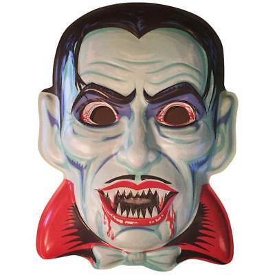 Ghoulsville Blood Of Dracula Xlarge Retro Monster Plastic  Mask  Wall Decor