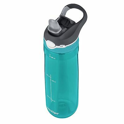 Contigo AUTOSPOUT Ashland 24oz Plastic Water Bottle with Flip Straw Scuba Blue