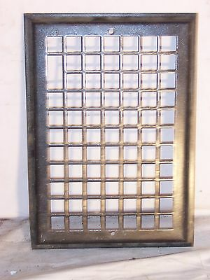 antique heat grate vent register grill 14x11 wall front repurpose industrial