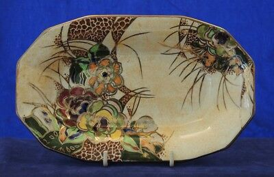 1930s 1940s ROYAL WINTON BYZANTA WARE FLOWER DECORATED LUSTRE BOWL #7