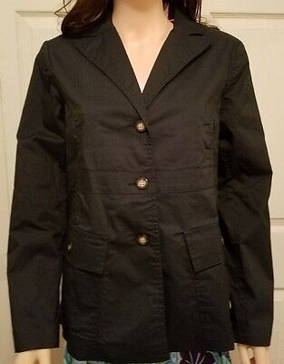 Liz Lange Size 10 Maternity Blazer Jacket Lined Long Sleeve Dark Navy Blu office