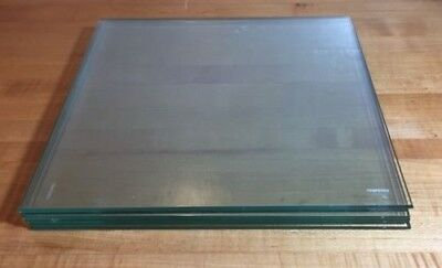 """Tempered Glass Cube Shelves 12""""x12""""x3/16""""  Lot of 10"""