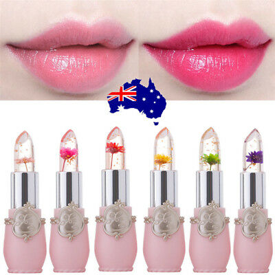Flower Lipstick Color Jelly Transparent Magic Changing Lip Temperature Change ON