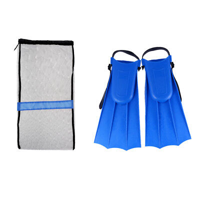 Adult Kids Scuba Dive Swimming Full Foot Fins Flippers +Diving Gear Mesh Bag