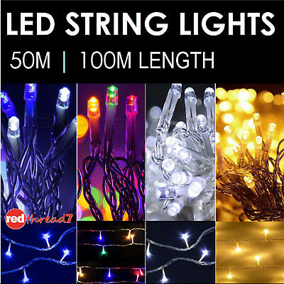 Fairy Christmas String Lights 50M 100M 250 500 LED Wedding Party Outdoor Event