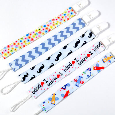 Boy Girl Dummy Pacifier Soother Nipple Leash Strap Baby Kids Chain Clip Holders