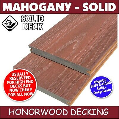 COMPOSITE DECKING EMBOSSED SOLID - 5.4x130x18mm Deck replaces Timber WPC Modwood