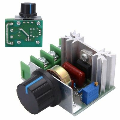 50-220V 15A 2000W AC Motor Dimmers SCR Controller Knob Switch Speed Control Tool