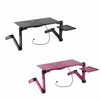 Laptop Computer Notebook Table Stand Desk Bed Tray Adjustable Folding Portable H