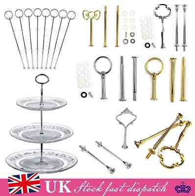 5/10X Cake Plate Stand 2 or 3 Tier fittings Centre Handle Fitting Hardware Rod