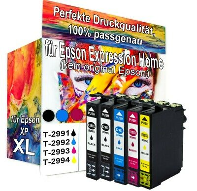 5 XL Druckerpatronen für Epson Expression Home XP342 XP247 XP432 XP442 XP445 SET