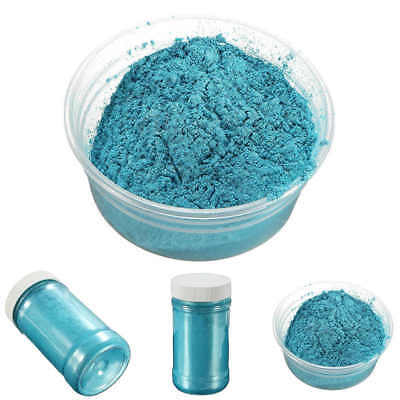 Blue 100g 400Grit Glitter Pearl Pigment Powder Metal Sparkle Shimmer Paint New