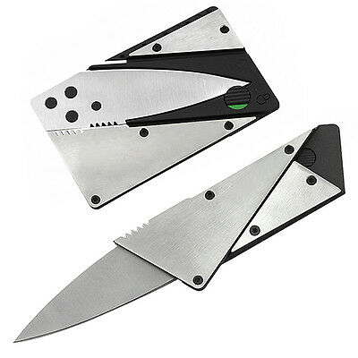 Strong Steel Outdoor Credit Card Thin Cardsharp Folding Pocket Knife Camping