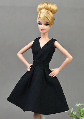 Black Fashion Clothes/outfit lovely Dress for Barbie doll S01U