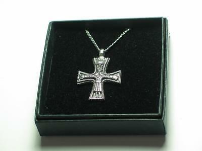 Viking crucifix, cross Hand made Pewter Pendant, Celtic Norse, Odin