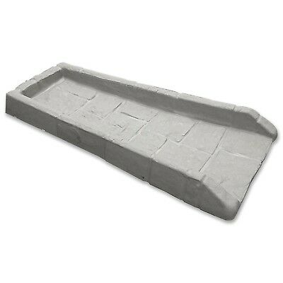 Rain Gutter Downspout Extension Splash Block Outdoor Roof Poly Grey Plastic