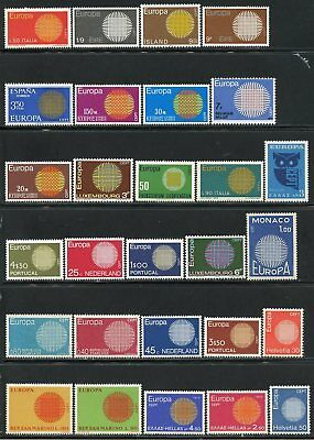 Europa 1970  Selection Of Mint Never Hinged Stampss As Shown