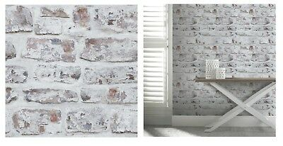 Arthouse Whitewashed Rustic Brick Wallpaper 671100 7 50