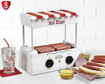 Electric Hotdog Cooker Warmer Grill Roller Steamer  Machine Rolling Bun Sausage