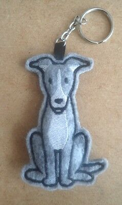 Greyhound keyring - handmade