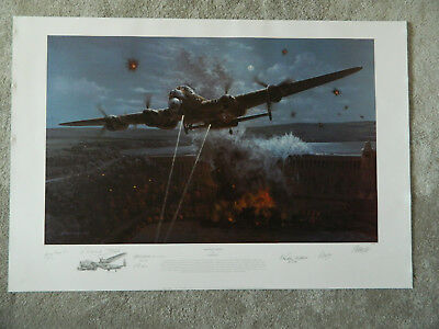 Primary Target RAF 617 Squadron Dambuster Print by Philip West Multi-signed