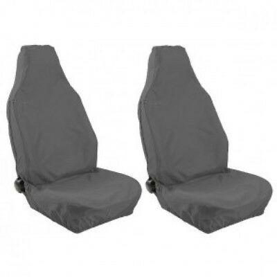 Rover City Front Grey Heavy Duty Pair Car Seat Cover Set