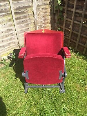 Theatre Seats. Antique. Fold Away seats. Red velvet cushions. Genuine.