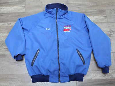 CRYSTAL PEPSI - Heavy blue jacket coat XXL PolarFleece vintage