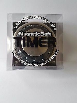 MAGNETIC SAFE TIMER....Lock In The Time You Need.  New/Unopened.  (Black)
