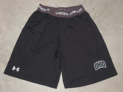 Under Armour Loose Long Shorts Boys Youth Large YLG Black 2 Pockets Athletic