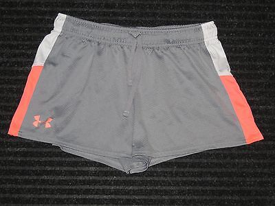 Under Armour Heatgear Loose Shorts Girls Youth XLarge YXL Gray Pink Athletic