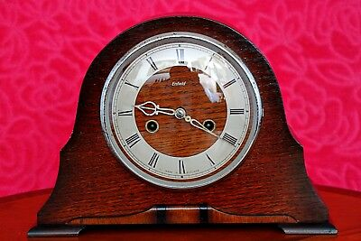 Vintage Art Deco 'Enfield' 8-Day Mantel Clock with Chimes