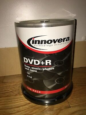 Innovera 46891 DVD Recordable Media - DVD+R - 16x - 4.70 GB - 100 Pack Spindle -