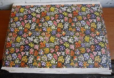 5 Vintage 50s Style Sanderson Floral Fabric Wallpaper Sample