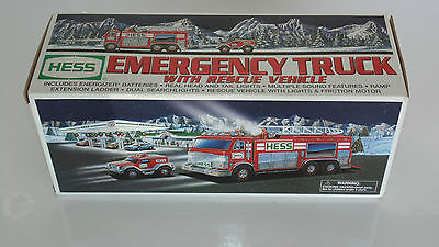 Hess 2005 Emergency Truck with Rescue Vehicle, New in Open Box