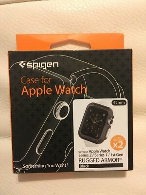 Spigen Rugged Armor Protective Case Cover for Apple Watch 42mm Series 1 2