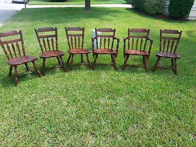 Cushman Colonial Solid Maple Dining Chairs Set Of 6 and Table Made In Vermont
