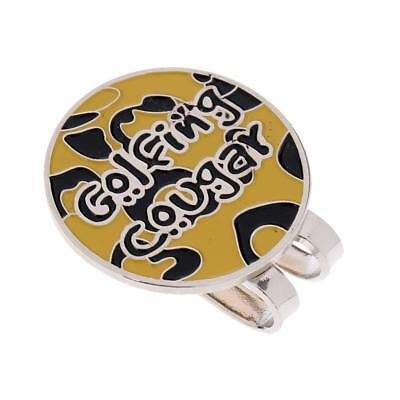 Alloy Hat Clip with Magnetic Removable Golf Ball Marker Yellow Black