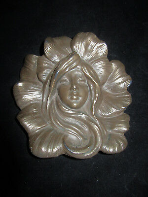 The Wild Goose Studio Fairy, Nymph or Shee Cast By Hand Bronze Wall Art Plaque