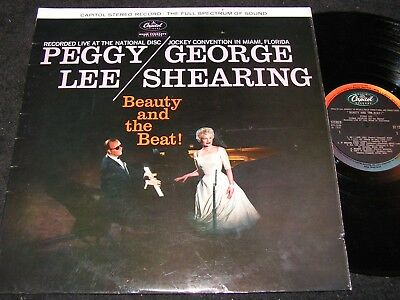 PEGGY LEE & GEORGE SHEARING Beauty and the Beat! / UK LP 1959 EMI CAPITOL ST1219