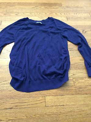 Old Navy Maternity Sweater V Neck Side Ruching Large Cute 💙