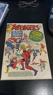 Avengers # 6 July 1964  1st app. Baron Zemo & the Masters of Evil New Movie Rare