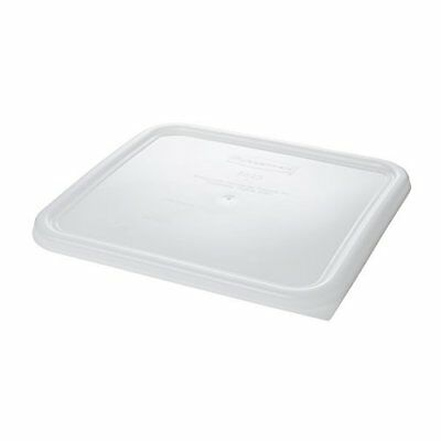 Rubbermaid Commercial Plastic Food Storage Container Lid, Square, White, 12