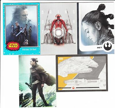 2017 Star Wars Journey Last Jedi Mini Master Set 142 Cards Base + 4 Insert Sets