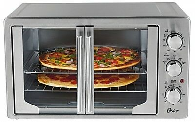 French Door Oven Oster Stainless Steel Large Capacity Countertop with Convection