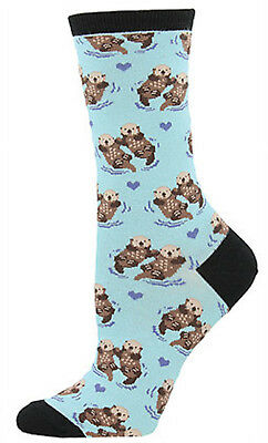 Significant Otter Socks -Blue Chalk SockSmith Cotton Crew