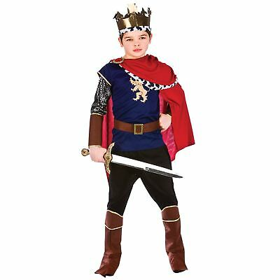 Childrens Boys Deluxe Medieval King Halloween Fancy Dress Up Costume Outfit