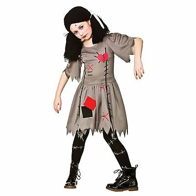 Girls Freaky Voodoo Doll Magic Living Dead Halloween Fancy Dress Kids Costume