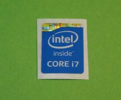 Intel Inside Core i7 Sticker Blue Blau haswell 7 Stück pcs Aufkleber Label logo