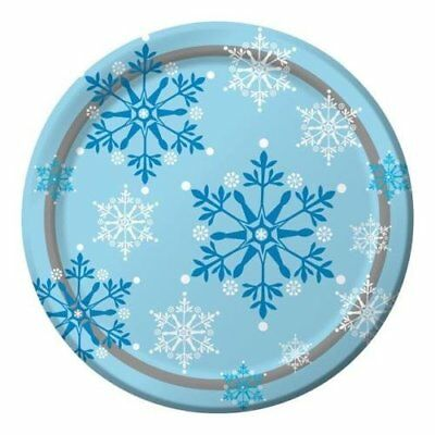 Snowflakes Swirls Paper Party Dinner Plates (8 Pack)  sc 1 st  PicClick UK & SNOWFLAKES SWIRLS Paper Party Lunch Plates (8 Pack) - £6.54 ...